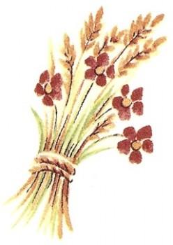陶瓷印花圖案-園藝之樂1  (4件)