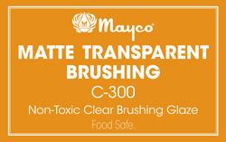 Mayco Low-Fire Crystal Glaze - C-300 Matte Transparent Brushing (1 gal)