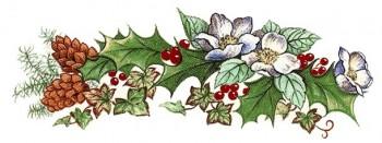 陶瓷印花圖案- 聖誕裝飾(大) 4件