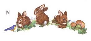 陶瓷印花圖案-兔仔 8件