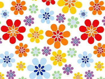 陶瓷印花紙- 大彩色花 (彩色)