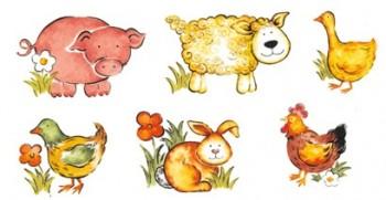 陶瓷印花圖案-動物 2 (24x24~45mm)