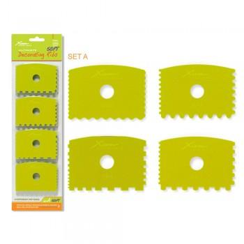 XIEM TOOLS 修飾用軟刮套裝 (4件)