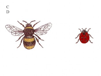 陶瓷印花圖案- 蜜峰與甲蟲  (小) 6件