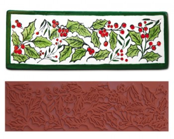 Mayco Designer Stamps - ST107 - Holly Border