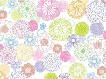 陶瓷印花紙- 大麗花 (粉色)