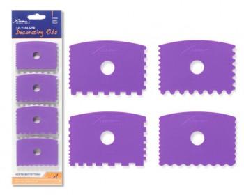 XIEM TOOLS 修飾用軟刮套裝 (4件) (X10224)