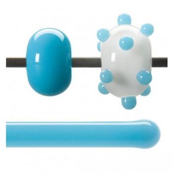 BULLSEYE 乳濁色玻璃棒 亮青色