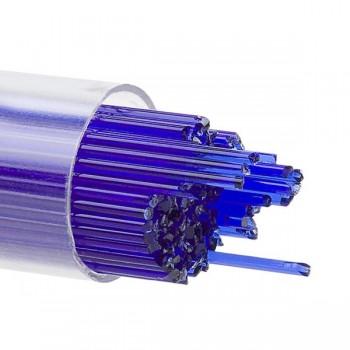BULLSEYE 透明玻璃幼條 透明深藍色 (15pcs)