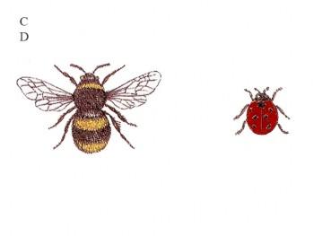 陶瓷印花圖案- 蜜峰與甲蟲  (大) 3件
