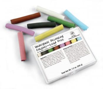 Amaco 8-colour Underglaze Crayon Box #208