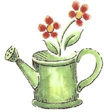 陶瓷印花圖案-園藝之樂2  (4件)