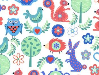 陶瓷印花紙- 森林世界 (彩色)