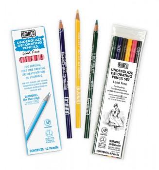 Amaco 6-colour Underglaze Pencil Pack