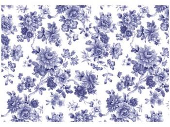 陶瓷印花紙-伊萬里花 (藍色)