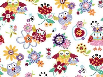 陶瓷印花紙- 可愛貓頭鷹 (彩色)