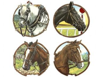 陶瓷印花圖案-馬 (130x130mm)