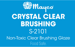 Mayco Low-Fire Crystal Glaze - S-2101 Crystal Clear Brushing (16oz)