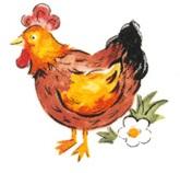 陶瓷印花圖案-公雞 (50mm)