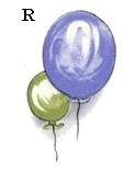 陶瓷印花圖案- 氣球1( 6件)