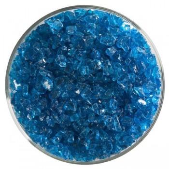BULLSEYE 透明玻璃粗熔塊 透明藍綠色 (4oz)