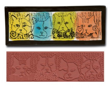 Mayco Designer Stamps - ST374 - Design Cats