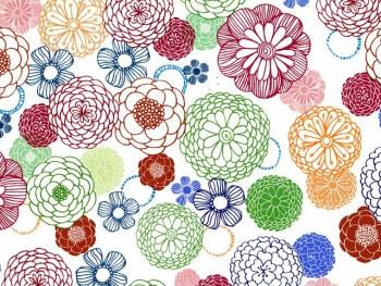 陶瓷印花紙- 大麗花 (彩色)