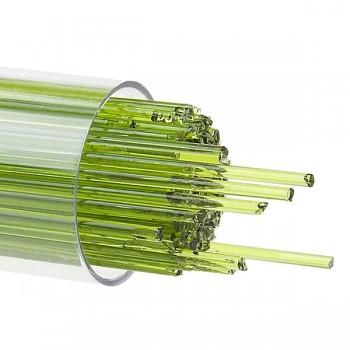 BULLSEYE 透明玻璃幼條 透明春綠色 (15pcs)