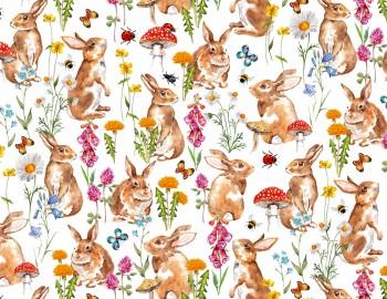 陶瓷印花紙- 小兔子 (彩色)