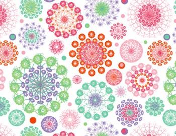 陶瓷印花紙- 天堂花 (彩色)