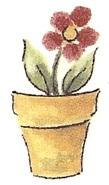 陶瓷印花圖案-園藝之樂3  (4件)