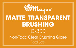 Mayco Low-Fire Crystal Glaze - C-300 Matte Transparent Brushing (16oz)