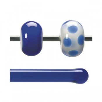 BULLSEYE 透明玻璃棒 透明深藍色