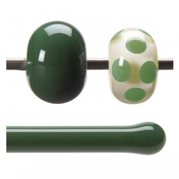 BULLSEYE 乳濁色玻璃棒 森林綠色