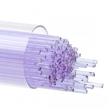 BULLSEYE 透明玻璃幼條 透明淺紫羅蘭色 (15pcs)