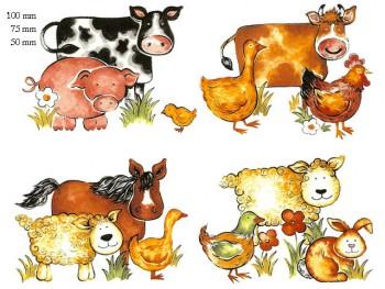 陶瓷印花圖案-動物 1 (50x50mm)