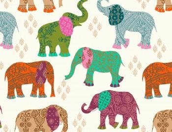 陶瓷印花紙- 大象 (彩色)