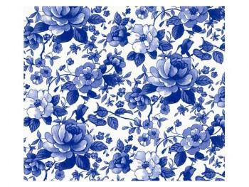 陶瓷印花紙 - 牡丹花 (藍色)